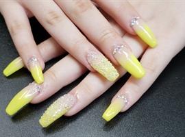 nail art: Ombre neon