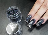 Black Glittery