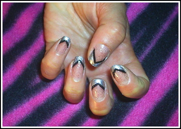 Silver french tip