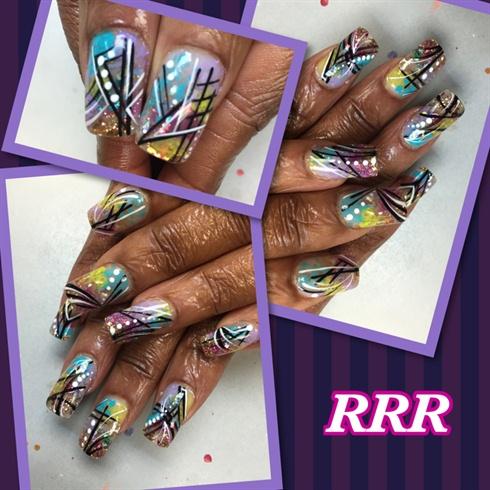 Graphic line and dot nail art nail art gallery graphic line and dot nail art prinsesfo Choice Image