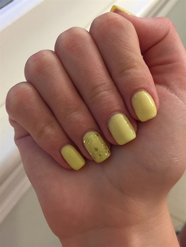 Yellow Gel-Nails By: Sparkle Nails