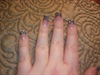Black and Silver Glitter Acrylic French