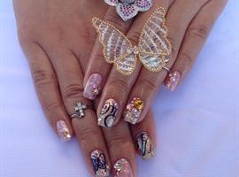 nail art: Next Top Nail Artist week10 Mariah Carey