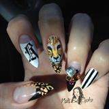 Hand Painted Cheetah