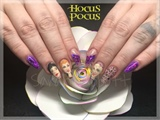 Freehand Hocus Pocus Nail Art