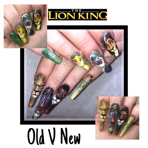 My Old V New Lion King Nails