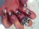 Butterfly Gel Nails