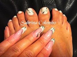 Animal Beige Nails