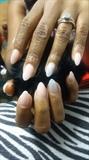 Natural almond shaped nails
