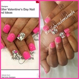 Cute love nails