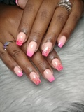 Ombre pink acrylics