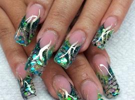 nail art: full lenth mermaid
