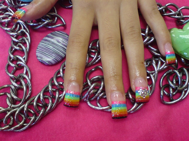 rainbow & crystal heart