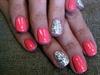Coral and Silver Glitter