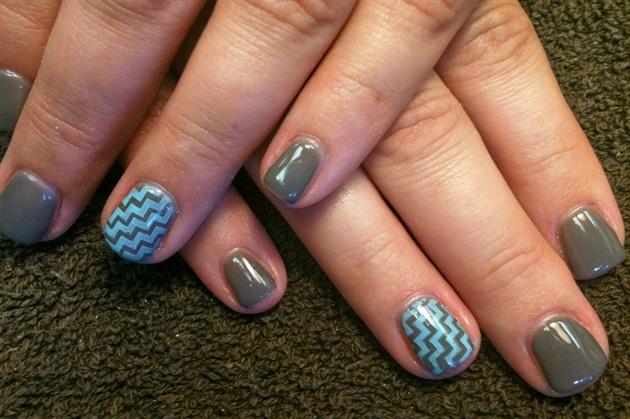 Tiffany blue, grey, chevron
