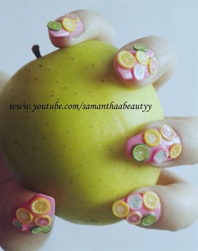 Summer Fruit Nail Design