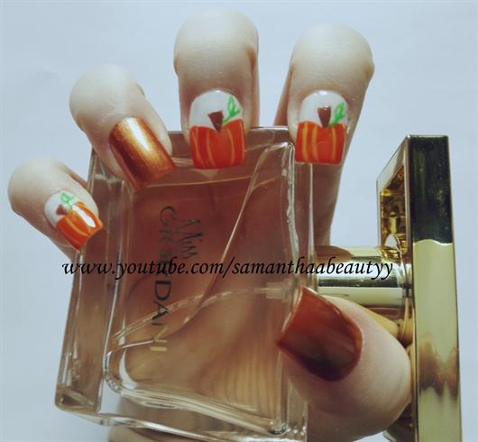 Fall Pumpkin Nail Design Nail Art Gallery