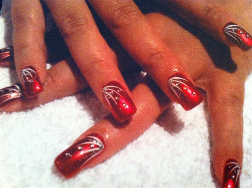 nail art flicks designs
