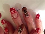 Xmas nails -reindeer