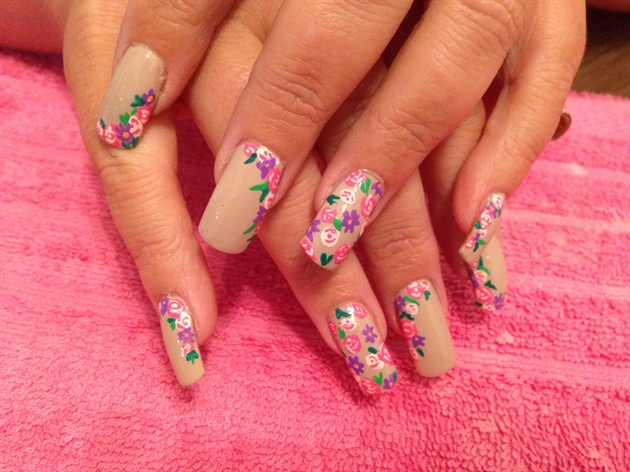 Nude floral
