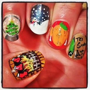 christmas nail art mix