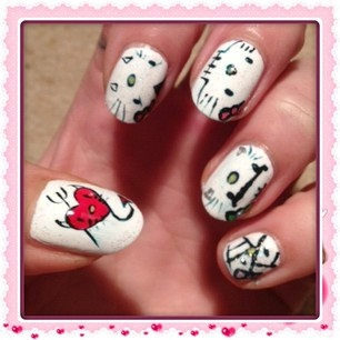 hello kitty halloween nail art - Nail Art Gallery
