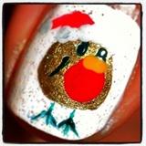 robin nail art