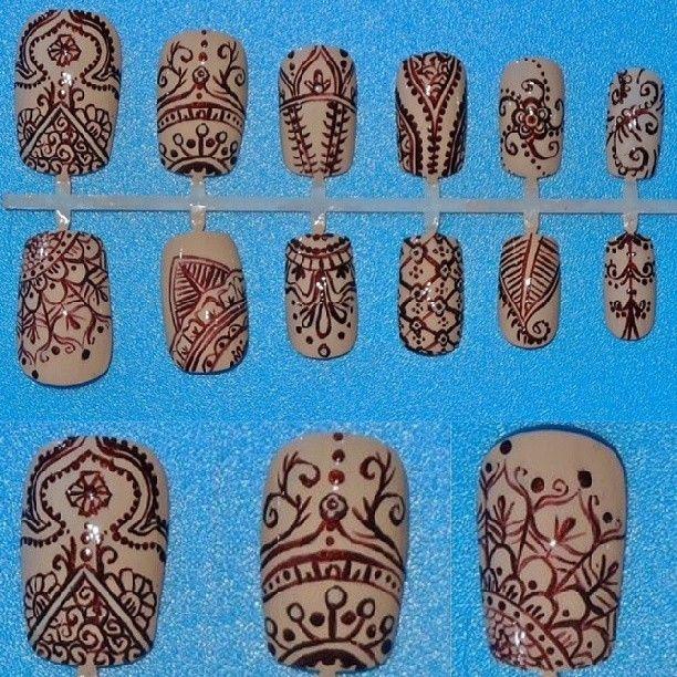 Henna Tattoo nail art - Nail Art Gallery Henna Nail Art Nail Art Photos