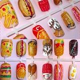 junk food / fast food nail art on press