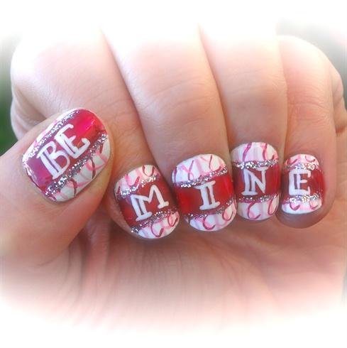 Be mine, Valentines day nail art