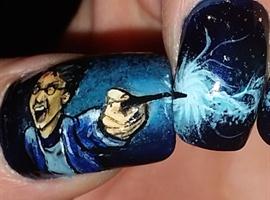 nail art: Harry Potter Expecto Patronum