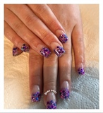 Glitter Fade Acrylic Nails