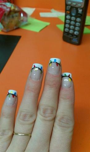 my christmas lights nails