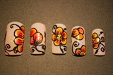 Orange flowers inspired by Radi