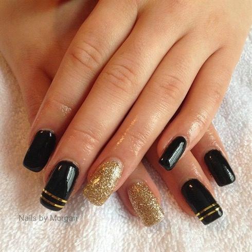 Gold Striping on Black