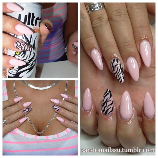 baby pink zebra - Nail Art Gallery