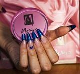 Super shiny glitter nails