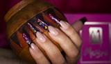 Shiny long nails