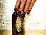 Long elegant gel nails