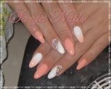 Peach - White