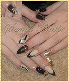 Beige - Black - Gold