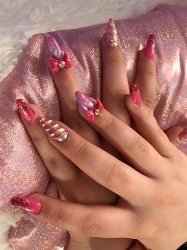 Hot Pink & Purple Unicorn Nailz!