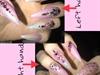 Pink Princess Nails!