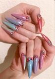 Rainbow Ombré Stiletto Nails!