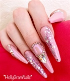 Pink Princess Nails!
