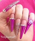 Pink Stiletto Barbie Nails!!
