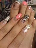 pink white n black