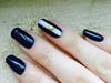 Minimal Nautical Gel Polish Manicure