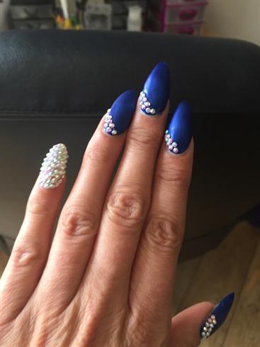 Blue Velvet Bling