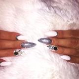 White/silver Cuffs